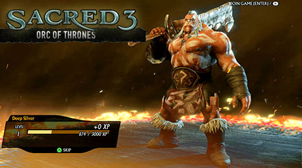 DLC Sacred 3: Orc of Thrones
